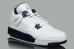 82526535c21d00 Air Jordan 4 IV Retro BG (GS) Columbia White Legend Blue Mdnght ...