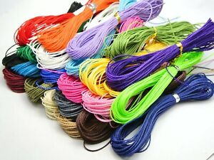 200-Meters-Waxed-Polyester-Twisted-Cord-String-Thread-Line-1mm-20-Color