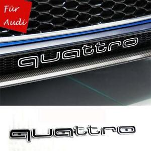 schwarz audi quattro grill badge logo embleme rs4 a4 a6 a8. Black Bedroom Furniture Sets. Home Design Ideas