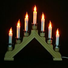 item 5 new christmas lights electric pine 7 bulb flickering wooden arch candle bridge new christmas lights electric pine 7 bulb flickering wooden arch
