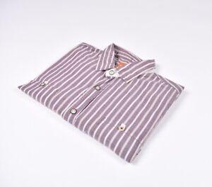 Hugo-Boss-Naranja-Label-Eltom-E-Hombre-Camisa-Talla-L