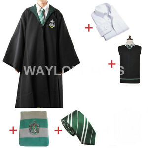 Slytherin-Cosplay-Costume-Slytherin-Robe-Scarf-Tie-Set