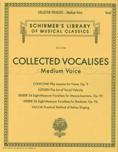 Collected Vocalises Medium Voix Vocal Sheet Music Book Concone Lutgen Vaccai-afficher Le Titre D'origine