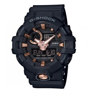 Casio-G-Shock-GA710B-1A4-Front-Button-Anadigi-Black-amp-Rose-Gold-Watch-for-Men