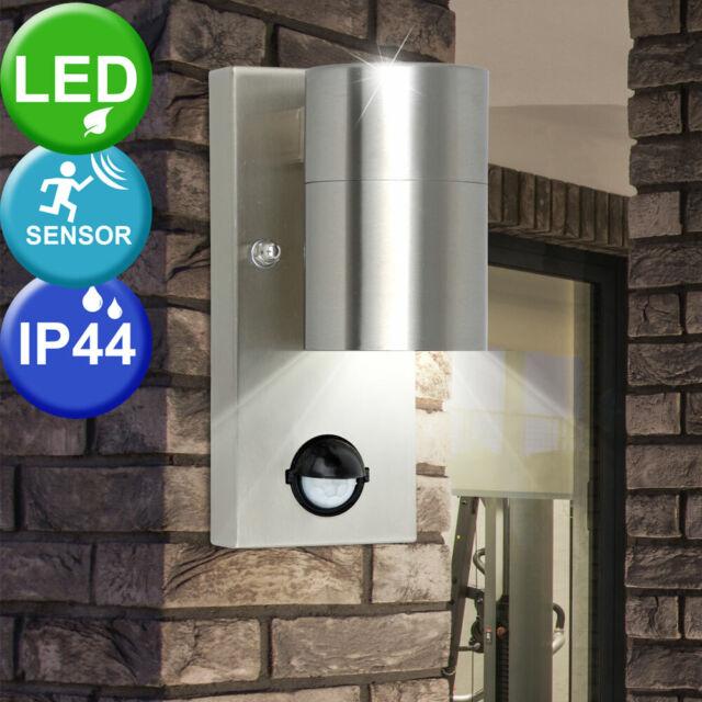 LED Solar Wand Strahler Fassade Tages Licht Beleuchtung Edelstahl Außen Leuchte