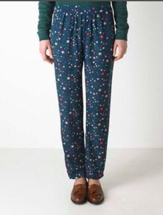 Nwt Cath Kidston Navy bluee Star Print Joggers Trouser Pants US 4