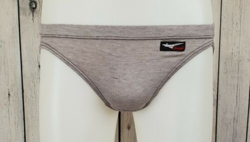 "Trapunta Vintage 1980s Marrone Da Uomo 100% Cotone MAI INDOSSATO AVION MINI SLIP SLIP Pantaloni -34"" - A02"