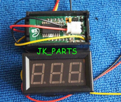 Blue LED DC 0V-99.9V Panel Meter Digital Voltmeter 3 wire Mini