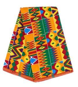 AFRICAN GHANAIAN KENTE ANKARA FABRIC PRINT 2331315 GHANA WAX NEW DESIGN PER YARD