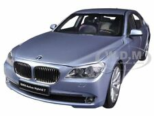 BMW 7 SERIES ACTIVE HYBRID LIGHT BLUE 1/18 DIECAST CAR MODEL BY KYOSHO 08782 BW