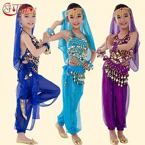 Details about Children Belly Dance Costumes Kids Belly Dancing Girls  Bollywood Indian Dance