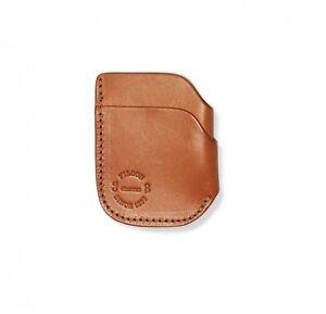 innovative design 401df 8de30 Details about FILSON 11070422 Front Pocket Cash & Card Case Tan Bridle  Leather Wallet