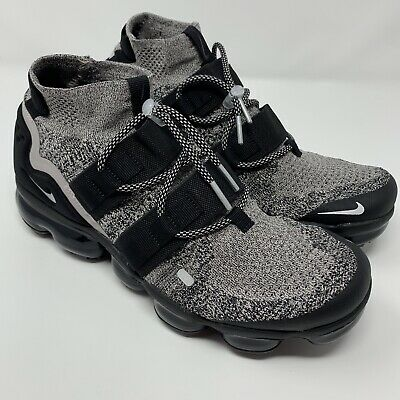 premium selection ded9a 0ceab Nike Air VaporMax Flyknit Utility Oreo Particle Black Mens Size 9.5  AH6834-201 | eBay