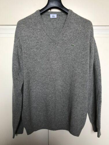 Grigio Maglione Taglia Sweater Uomo 6 Grey Maglia Lana Lacoste Men rTEIT
