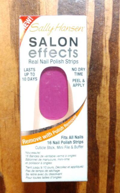 Buy Sally Hansen Salon Effects Real Nail Polish Strips (#130 Violet ...