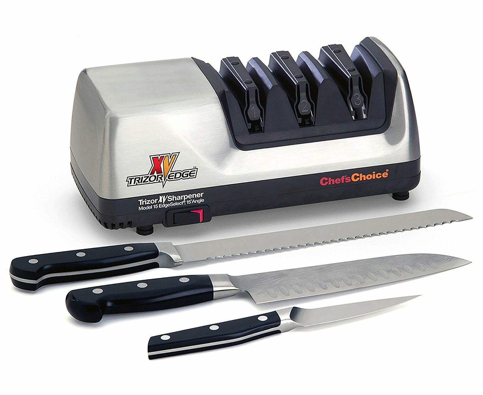 Chef S Choice Trizor XV Platinum électrique aiguiseur de couteaux M15 falurouge