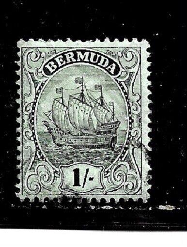 Bermuda Stamp- Scott # 92/A11-1sh-Canc/LH-1927-OG