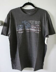 Lucky Brand Mens Rye Or Die Graphic Tee T-shirt Size XL Ships free