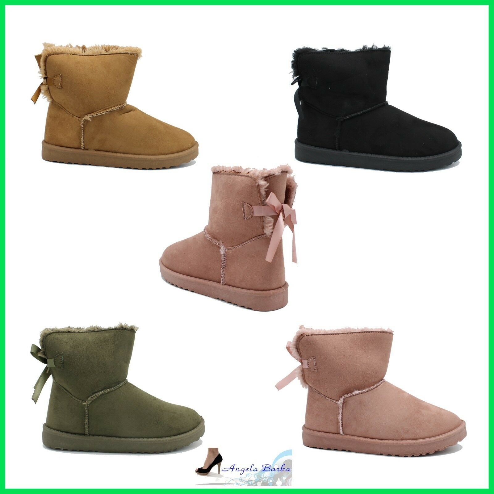 Boots women's Booties Winter with Fur Ankle Boot Hair boot Snow