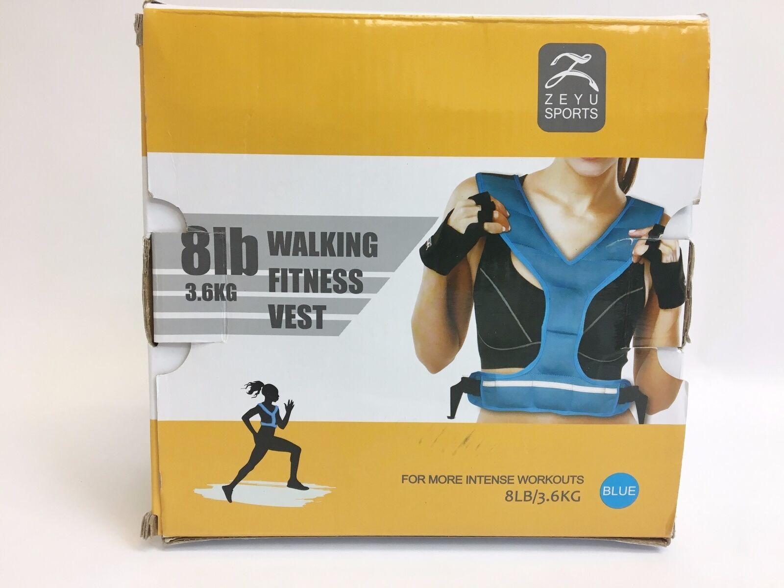 Zeyu  Sports 8 lb Walking Fitness Vest - bluee  big sale