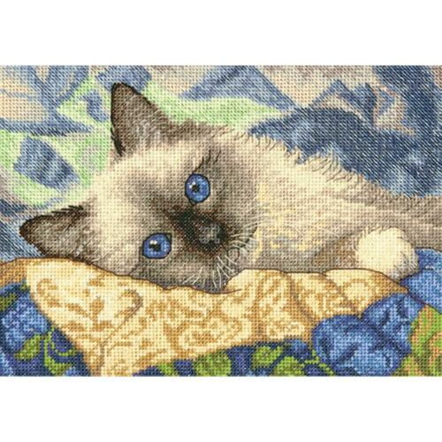 Counted Cross Stitch Kit  CHARMING Birman Cat Kitten Dimensions Gold Collection