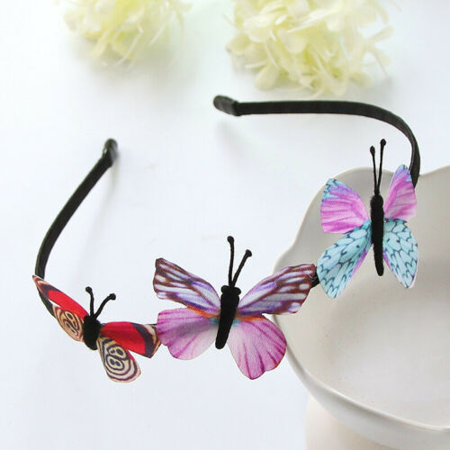 Colorful Kids Cute Hairband Butterfly Accessories Hair Hoop Band Headband Girls