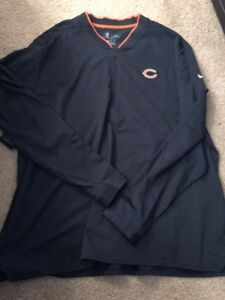 the latest 21ce6 beb97 Details about Nike Men's Chicago Bears Sideline Coaches Half-Zip Navy  Pullover 906915 459 3XL
