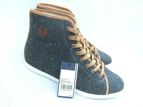 NEW FRED PERRY B3149W PHOENIX MID WOMENS FLEECE LINED FLECKED GREY BOOTS