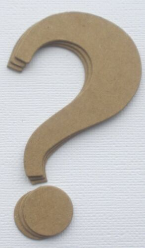 "{4}  4/"" QUESTION MARK Punctuation Raw Bare Chipboard Die Cuts"