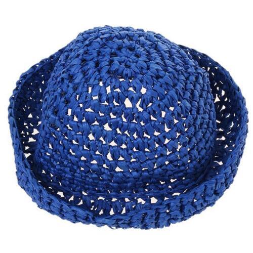 Foldable  Fashion Summer Women Black Bow Beach Sun Hat Straw Cap N7