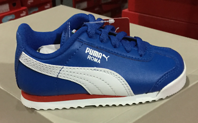 Puma Roma Basic For Kids Blue Red White New In Box 361594 48