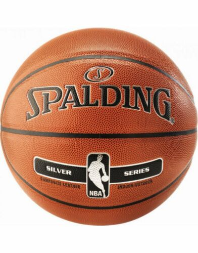 Spalding NBA Silver In//Out Composite Leather Max Grip And Control Basketball