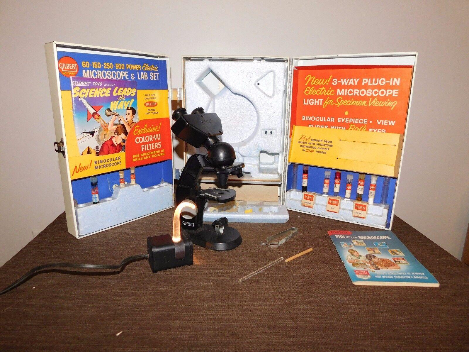 alta calidad De Colección de Ciencia de de de Juguete de 1960 conjunto de laboratorio de Gilbert Microscopio & en Caja De Metal  Mercancía de alta calidad y servicio conveniente y honesto.