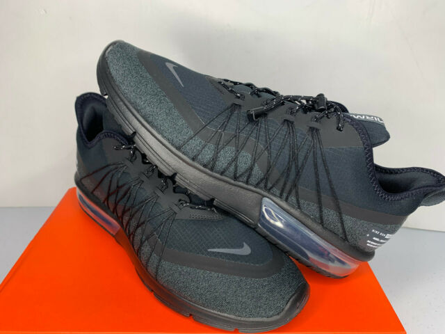 NEW SIZE 6 9 Men Nike Air Max Sequent 4 Utility Training Running Shoe Black NIB