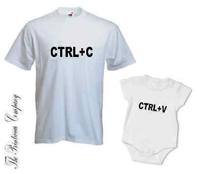 Ernst Ctrl+c Ctrl+v Copy Paste Matching Daddy Dad Son Daughter T-shirt Tee & Babygrow Niedriger Preis