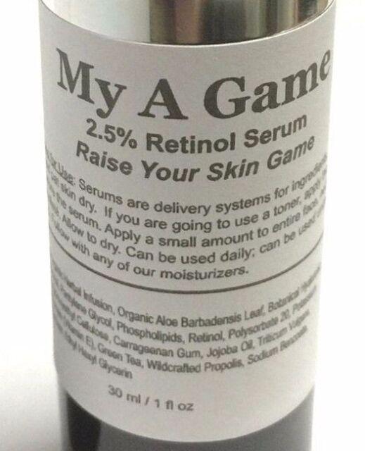 Refill ModelSupplies My A Game 2.5% Retinol Serum Antiaging AntiAcne Vitamin A