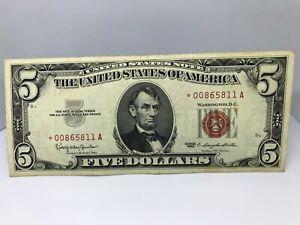 1963 $5 Legal Tenders FR 1536 XF//AU