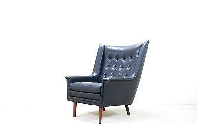 Vejen Wingback Danish Lounge Chair Papa Bear Highback Ledersessel Leder Sessel