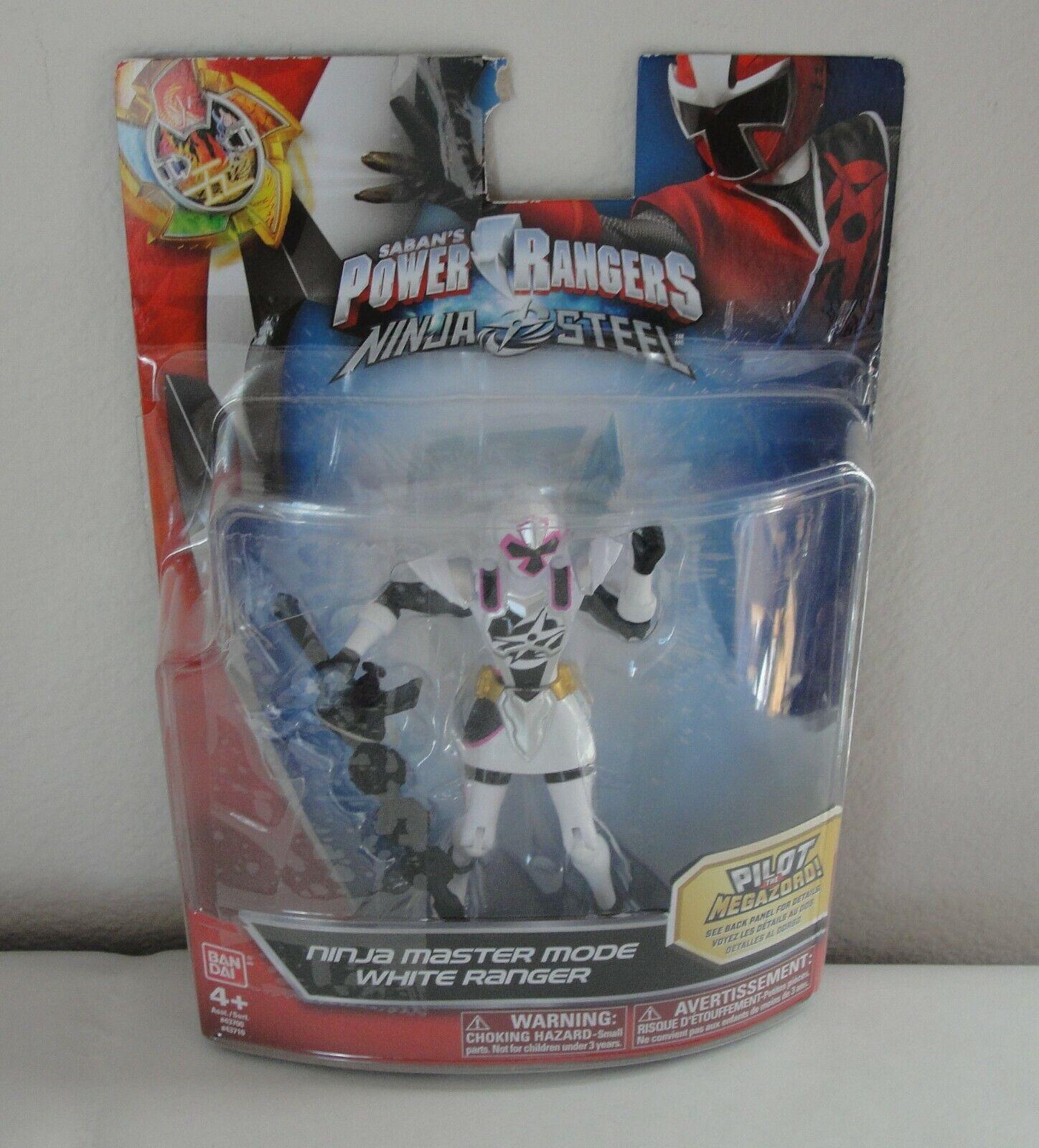 """NOUVEAU Power Rangers Saban/'s Ninja Acier 5/"""" Action Figure MODE Master Blue Ranger"""