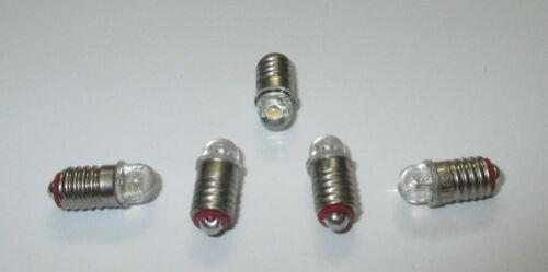 NEU LED E5.5   3,5-4,5Volt  für Krippen- Puppenhauslampen 5 Stück