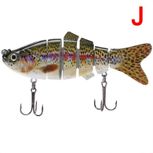 ZAB Fishing Lure 6-Segment Fishing Hard Lure Crankbait With 2 Hook Fishing Bait