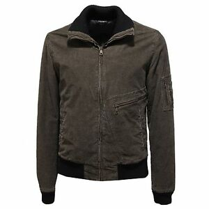save off ed586 70c4e Details about 90975 giubbotto DOLCE&GABBANA D&G velluto brown giacche  giubbino uomo jacket men