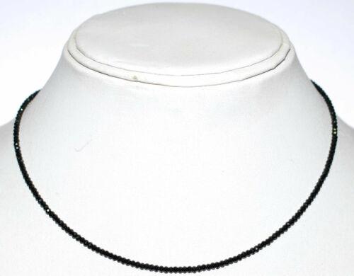 Spinell Stein 3mm Runde Perlen 12-45 Zoll Sterling Silber Strang Halskette UH355