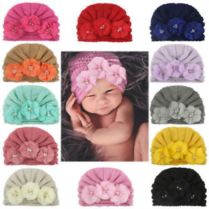 Toddler Infant Baby Girl Newborn Flower Hollow Out Hat Headwear Beanie Warm Cap