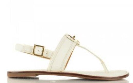 7e3b8e298 Tory Burch Selma Flat Slingback Thong Sandals 6.5 Tumbled Leather ...