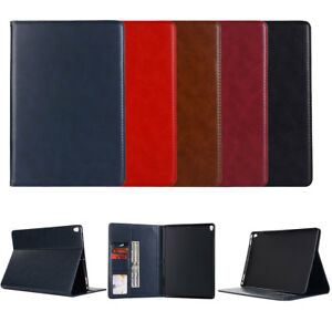 Genuine-Leather-Wallet-Flip-Smart-Case-Cover-For-iPad-234-5-Mini-123-Air-2-Pro