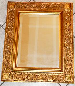 WANDSPIEGEL ROKOKO-/BAROCK-STIL (No. 2020/07) goldfarbig 59,5 cm x 48,9 cm