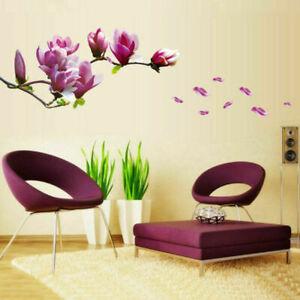 Wandtattoo-Magnolie-Blumen-Magnolia-Wandaufkleber-Wand-stickers-Wohnzimmer-V4R8