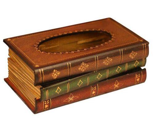Tosnail Elegant Wooden Antique Book Tissue Holder Dispenser//Novelty Napkin Ho...