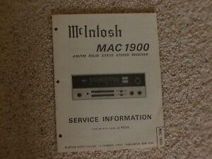 Mcintosh mac 1900 service manual pdf
